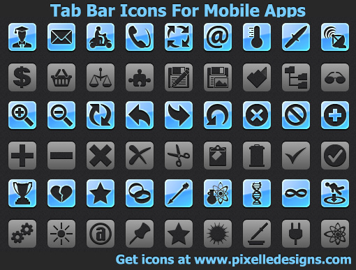Tab Bar Icons For Mobile Apps